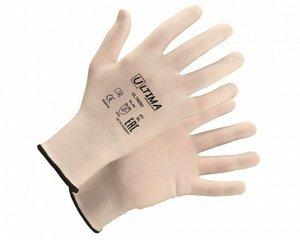 Перчатки - №42 нейлоновые без покрытия, белые,ULTIMA (уп 12 пар/1кор-240 пар) (р.11/XXL)
