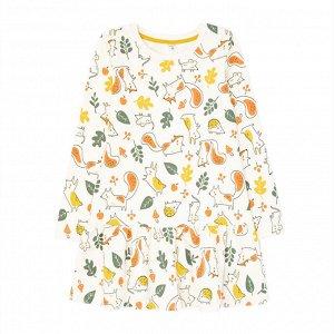 К 5699 к1270 Платье для девочки (сливки.осенний лес)
