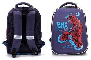 """Рюкзак школьный ERGONOMIC 1 """"BMX Racing"""" 38х28х16 см РЮКЖК1-РСН SchoolФормат {Китай}"""