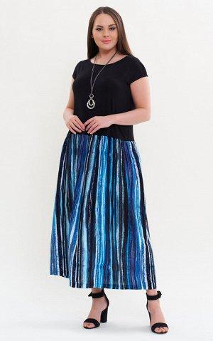 Платье Цвет: синий, зеленый Коллекция: Весна/Лето Состав: 100 % вискоза Описание:Необычный вариант платья для женщин, которые любят интересные вещи. Визуально выглядит как топ и юбка, но по факту изде