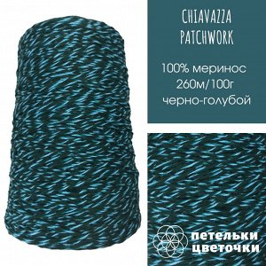 Chiavazza, 100 гр, черно-голубой