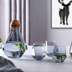 Набор: графин и 4 стакана
