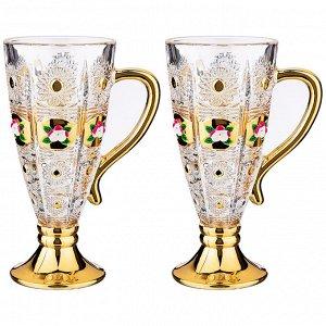 """Набор НАБОР ИЗ 2-Х КРУЖЕК """"LEFARD GOLD GLASS"""" 250 МЛ. ВЫСОТА=16,5 СМ. (КОР=24НАБ.)  Материал: Стекло Коллекция стеклянной посуды LEFARD GOLD GLASS сочетает в себе универсальность и любимый многими кл"""