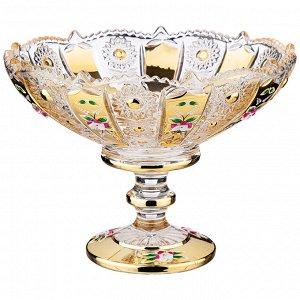 """Конфетница КОНФЕТНИЦА """"LEFARD GOLD GLASS"""" 19,5*19,5 СМ. ВЫСОТА=15 СМ. (КОР=12ШТ.)  Материал: Стекло Коллекция стеклянной посуды LEFARD GOLD GLASS сочетает в себе универсальность и любимый многими кла"""