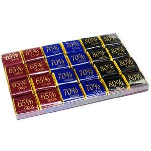 Набор Шоколада Рахат 65%, 70%, 80% (неап) х/к 210гр  1/8 шт (Пластиковая коробка) (Рахат, Казахстан)