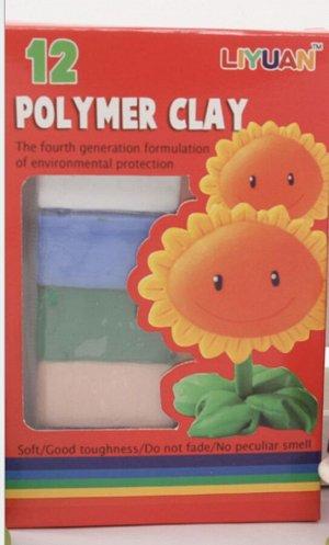 Полимерная глина 12 цветов 175г