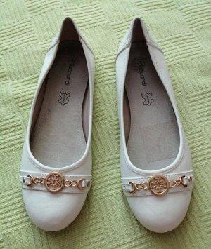 кожаные белые балетки 38 размер