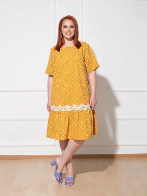 Платье 0091-9 горчичный