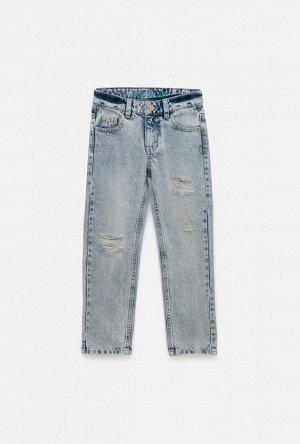 Брюки джинсовые детские для мальчиков Ichigo светло-голубой