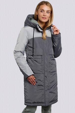 Графит Пальто зимнее на утеплителе термофин. Удобное пальто прямого силуэта, выделяется контрастным цветовым сочетанием. Застежка на молнию и планку с кнопками, боковые карманы имеют оригинальный кр