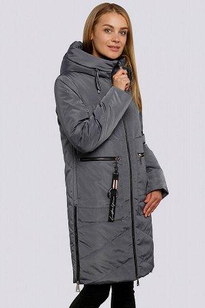 Графит Яркий акцент в ваш зимний гардероб внесет красивое зимнее пальто с накладными карманами. Силуэт прямой, умеренного объема. Центральная застежка на «молнии». Накладные карманы имеют 2 входа: о