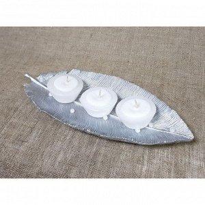 """Набор свечей на подставке """"Поэзия"""" серебро"""