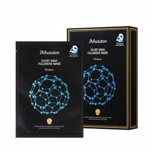 JMSolution Aqua Fullerene mask Маска для лица с фуллереном и пептидами для глакости кожи, 35мл