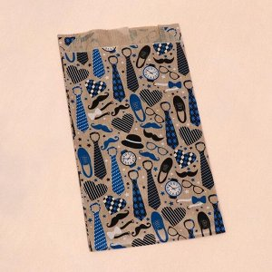 """Пакет бумажный, крафт, """"Мужской набор"""", V-образное дно, 20 х 11 х 3,5 см"""