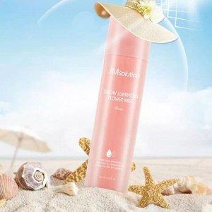 JMSOLUTION GLOW LUMINOUS FLOWER SUN SPRAY ROSE 180ml Солнцезащитный спрей с дамасской розой