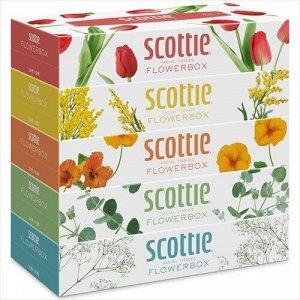 """Салфетки Crecia """"Scottie Flowerbox"""" двухслойные 160шт*5кор"""