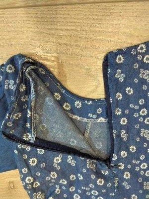 Платье с коротким рукавом, с пышной юбочкой (4-5лет)