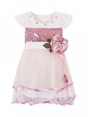 Платье для девочек с цветком на поясе