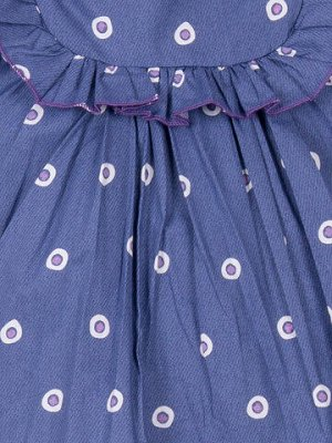 """Платья для девочек """"Button-bright blue"""""""