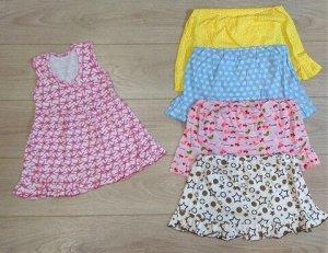 Платье без рукавов для девочки (1-1.5 года), поштучно