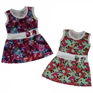 Платье без рукавов, на талии на рибане (1-2 года)
