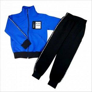 Спортивный костюм 0209/38 (василек, эмблема, лампас)