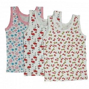 Майка для девочки 101/5 (бантики, фламинго, цветы)