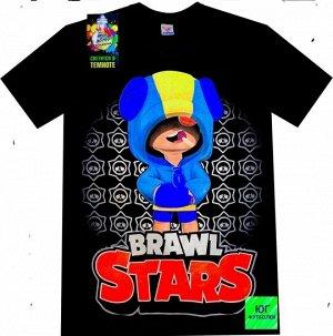Светящаяся футболка «Brawl stars» Чупс черная