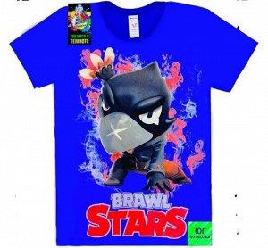 Светящаяся футболка «Brawl stars» Ворон