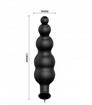 ВИБРОМАССАЖЁР (ВТУЛКА АНАЛЬНАЯ) L 118 мм D 30 мм, 12 режимов вибрации