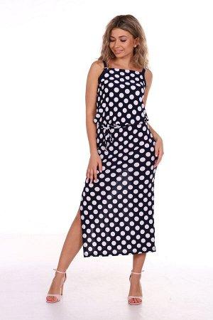 Платье женское, горох