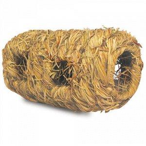 Triol Домик-туннель д/грыз Natural из луговых трав со входами 18*9,5см (1/100)