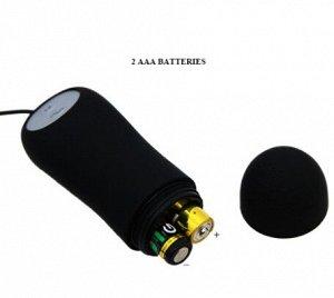 ВИБРОМАССАЖЁР (ВТУЛКА АНАЛЬНАЯ) L 85 мм D 31 мм, 12 режимов вибрации