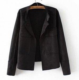 Куртка черная под замшу