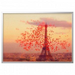 BJÖRKSTA БЬЁРКСТА Картина с рамой, Эйфелева башня/цвет алюминия140x100 см
