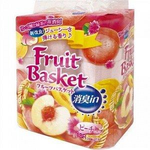"""Бумага туалетная Marutomi """"Fruit Basket"""" персик 2-х слойная, 27,5м х 0,114м,18 рул/уп"""