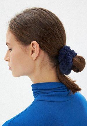 Резинка из искусственного меха, цвет синий