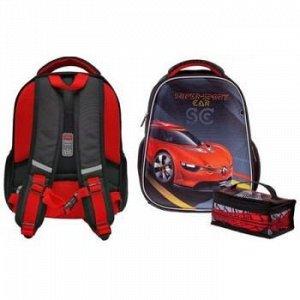 """Рюкзак школьный """"Ergonomic.light Super Sports Car"""" 38х29х15 см +термосумка (066055) 60007 Хатбер {Китай}"""