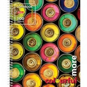 "Тетрадь 100л клетка на спирали ""Colourful more"" обложка с карманом (054480) 18861 Хатбер {Россия}"