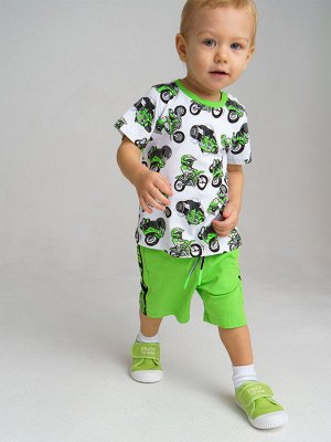 Комплект трикотажный для мальчиков: фуфайка (футболка). шорты