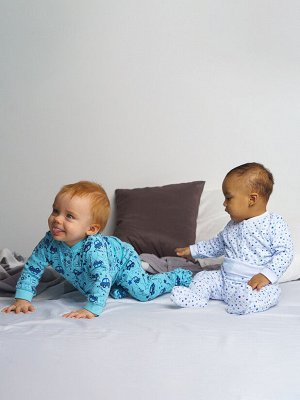 Ползунки детские трикотажные для мальчиков, 2 шт. в комплекте