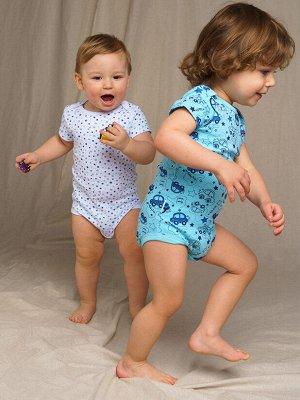 Боди детское трикотажное для мальчиков, 3 шт. в комплекте