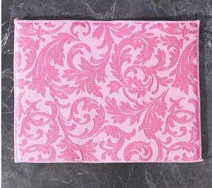 Коврик для сушки посуды, цвет розовый