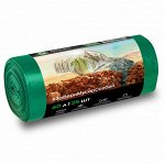 Мешок для мусора ПНД в рулоне 60 л. 55*65 13 мкр (зеленый) (рул. 25 шт)