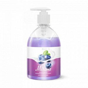 Жидкое мыло MILANA черника в йогурте 500мл с дозатором