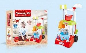 Игровой набор ABtoys Помогаю маме Генеральная уборка Тележка и 9 предметов995