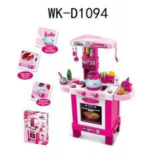 Игровой набор Junfa Кухня многофункциональная, розовая199