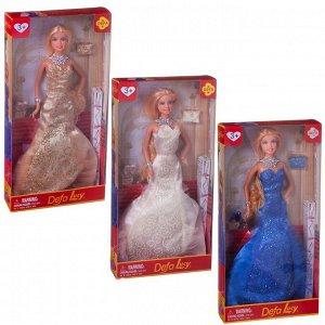 Кукла Defa Lucy Светский прием, 3 вида в коллекции, в наборе с аксессуарами (туфельки,клатч)156
