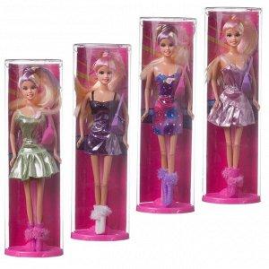 Кукла Defa Lucy Яркая девушка в наборе с сумочкой, высота куклы:29см, 4 вида258