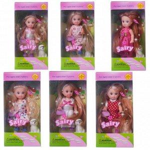 Кукла Defa Sairy с собачкой и аксессуарами, 10 см, 6 видов643